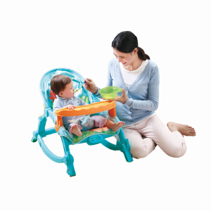 Auby澳贝 摇摇椅婴儿躺椅多功能音乐安抚椅儿童宝宝摇椅 奇幻森林摇摇椅
