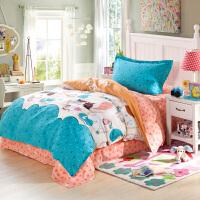 绚典家纺 三件套纯棉单人床学生宿舍床上下铺全棉床品套件