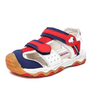 史努比童鞋新款男孩包头机能凉鞋透气宝宝凉鞋
