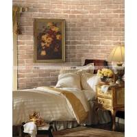 PVC自粘墙纸 带压纹 仿真砖 卧室客厅背景壁纸 10米 SH2080