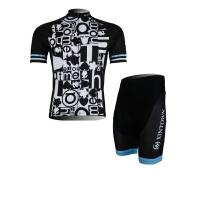 XINTOWN图形骑行服短袖情侣套装自行车服夏季速干衣