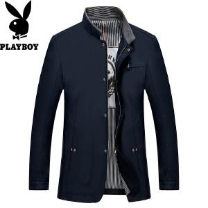 PLAYBOY/花花公子花花公子冬季新品商务休闲时尚百搭修身夹克外套