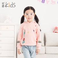 初语童装可爱套头女童加绒卫衣2016春装印花卡通可爱儿童卫衣
