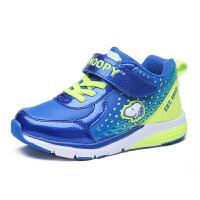 史努比童鞋男童运动鞋冬男孩棉鞋中大童跑步鞋加绒保暖儿童休闲鞋