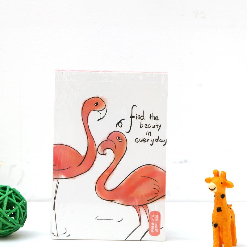 卡通可爱简笔小动物 一抹绿色a6素描本 学生可爱素描本画画本速写本