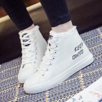 匡王秋冬季女鞋学生高帮棉鞋女韩版短靴加绒马丁靴女士雪地靴短筒女靴