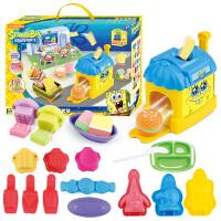 【满99减10】海绵宝宝玩具3D打印泥儿童手工彩泥橡皮泥玩具蟹堡王模具套装