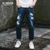 VIISHOW春季新款男士牛仔裤宽松休闲复古男牛仔长裤子韩版潮男装