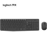 罗技MK235无线键盘/鼠标套装/家用笔记本/台式游戏/薄无线键鼠 黑色代替mk260套装