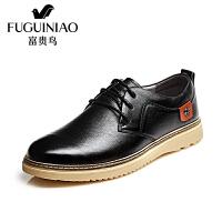 富贵鸟(FUGUINIAO)2017春季时尚生活休闲鞋 男士户外舒适皮鞋子