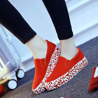 韩版女鞋套脚鞋懒人鞋女士低帮厚底松糕鞋学生休闲鞋帆布鞋