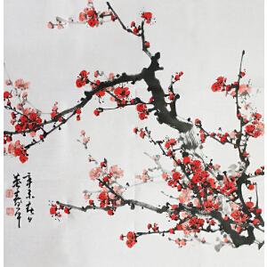 董寿平《梅花》当代著名写意画家、书法家