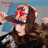 帽子女韩版嘻哈帽秋冬刺绣平沿帽女士时尚街头棒球帽纯棉鸭舌帽潮2439