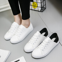匡王2017夏季新款帆布鞋女学生透气小白鞋韩版百搭休闲鞋平底板鞋