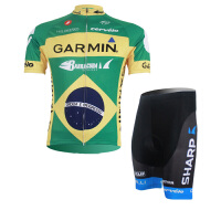 XINTOWN西班绿色骑行服短袖情侣套装自行车服夏季吸湿排汗速干衣透气网眼