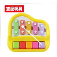 宝丽欢乐小木琴手敲琴5音阶益智音乐宝宝婴儿童玩具