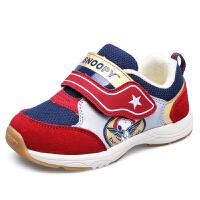 史努比童鞋秋季男童机能鞋防内八矫正机能鞋软底宝宝学步鞋