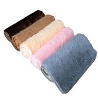 普润 丝毛加厚地毯客厅地毯沙发茶几地毯卧室床边毯满铺地毯榻榻米地垫40*60cm 白色