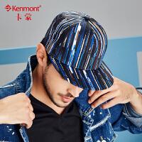 户外男士帽子秋冬街舞嘻哈帽男时尚潮流条纹平沿帽鸭舌帽棒球帽2441