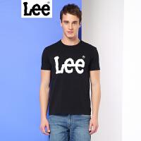 Lee男装商场同款2017春夏新品字母印花短袖T恤男L249342LQK11 L249342LQG5M L249342LQK14