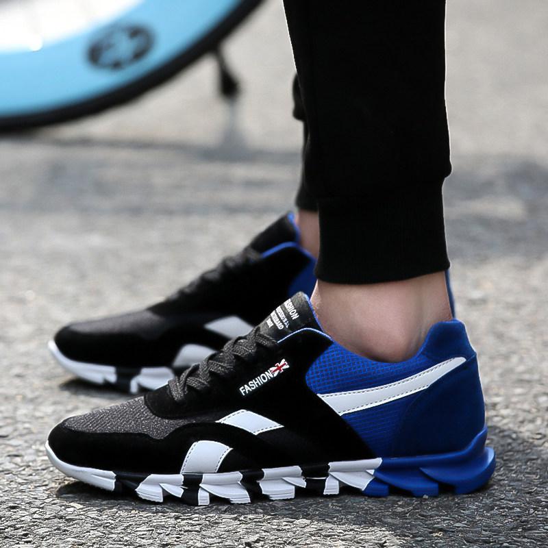 男生鞋子2014潮流_透气男生运动鞋青年 男士低帮男鞋子潮流时尚休闲鞋2016夏季