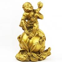 兴润阁铜 猴子摆件铜猴风水猴家居风水铜工艺品生肖摆件