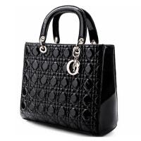莫尔克merkel 新款流行潮女包包黑色菱格韩版复古手提女包包单肩斜跨包W-01