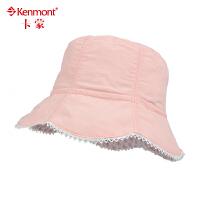 儿童帽子韩版女童帽夏季可爱碎花渔夫帽遮阳帽大檐太阳帽防晒盆帽4899