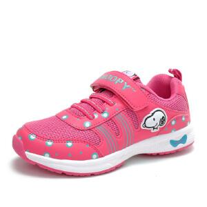 史努比童鞋女童运动鞋新款运动鞋儿童网面鞋女童鞋
