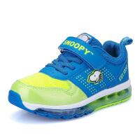 史努比童鞋男童儿童运动鞋全掌气垫鞋减震男童鞋大童