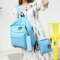 芭特莉【全店支持礼品卡】时尚双肩背2017新款潮流韩版学生书包学院风背包