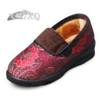 欣清冬季新款老北京布鞋女款中老年加厚加绒保暖室内外雪地棉妈妈鞋