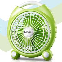 志高(CHIGO)台式绿色小风扇学生宿舍小风扇静音家用台扇迷你风扇转页扇鸿运扇F0-18C1