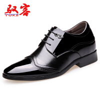驭客2016内增高男皮鞋男士商务正装皮鞋时尚英伦休闲男鞋隐形内增高鞋0P6871