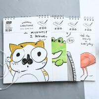 【一件包邮】创意学生文具 简笔小动物A4素描本 卡通可爱学生绘画素描本涂鸦本速写本 创意学习文具用品 多款可选