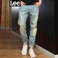 Lee男装 2017春夏新品低腰直脚3D视觉九分牛仔裤男LMZ755Z025DK