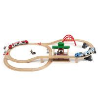 [当当自营]BRIO 电动火车豪华套装 儿童益智拼插木制轨道小火车玩具 BR33512