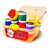 包邮 美乐joanmiro 儿童手指画套装颜料安全无毒水洗 12色套装,手指画百宝箱绘画颜料,画笔