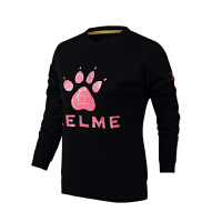 KELME卡尔美 K36C7004 女式运动卫衣 裂纹LOGO印花长袖圆领套头衫 户外休闲长袖T恤