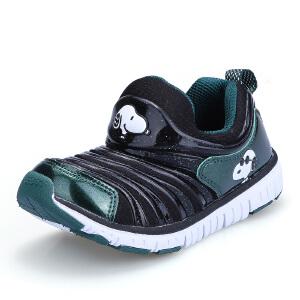 史努比童鞋毛毛虫童鞋男童鞋女童鞋春秋款儿童运动鞋舒适毛毛虫鞋