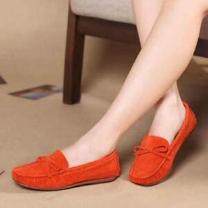 东帝名坊新款休闲鞋平底鞋女单鞋平跟豆豆鞋女磨砂女鞋妈妈鞋子