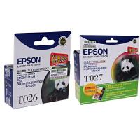 爱普生原装 EPSON T026黑色墨盒 T027彩色墨盒 爱普生EPSON Photo810 830 830U 925 935 820打印机墨盒