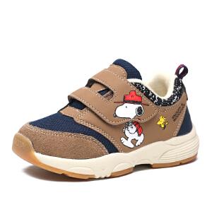 史努比童鞋男童机能鞋儿童运动鞋软底防滑宝宝学步鞋