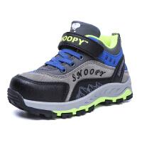 史努比童鞋男童棉鞋儿童运动新款加绒加厚中大童小孩冬鞋