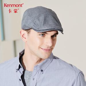 卡蒙青年经典贝雷帽男士帽子春夏季黑色鸭舌帽前进帽男英伦爸爸帽3470