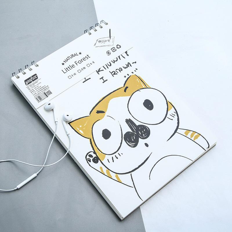 简笔小动物a4素描本 卡通可爱学生绘画素描本涂鸦本速写本 创意学习