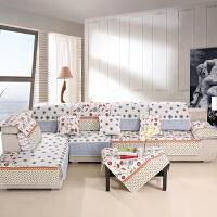 晚歌沙发垫双面四季沙发巾套坐垫单双人坐多规格任选