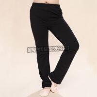 女童舞蹈裤秋冬季长裤直筒裤运动男童儿童舞蹈服练功裤子黑色长裤