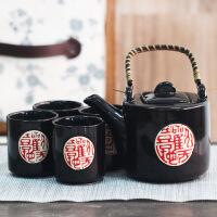 普润五件套 中国风茶具套装茶具礼盒陶瓷茶具黑韵经典