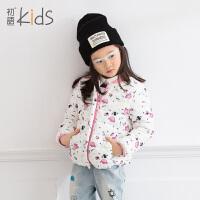 初语童装2016冬装新款女童羽绒服长袖可爱印花儿童歌羽绒服